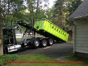 30 Cu Yd Home Delivery Roll off dumpster rental service - Hudacko Waste Industries